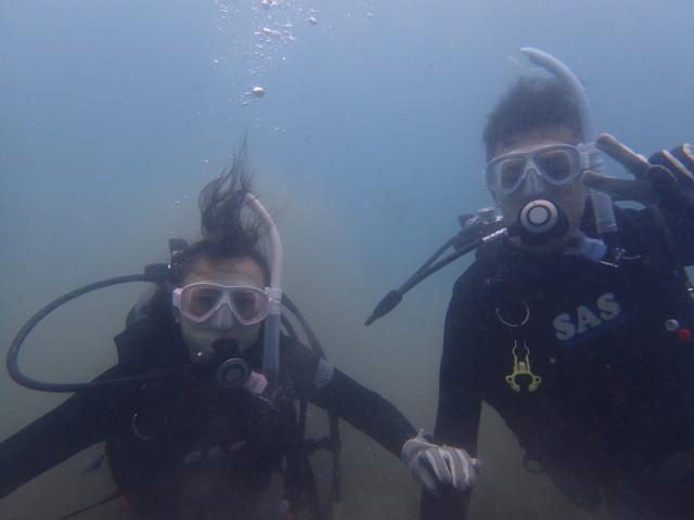 千葉県館山市沖ノ島ビーチで体験ダイビング