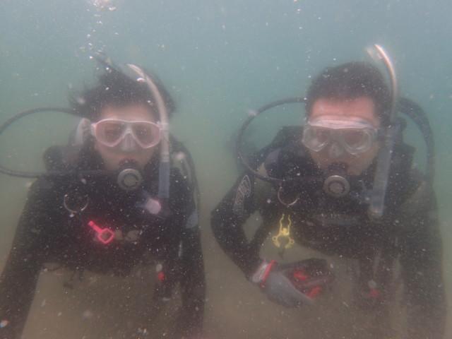 千葉県館山市の沖ノ島ビーチで体験ダイビング 体験ダイビングなら沖ノ島ダイビングサービスマリンスノー