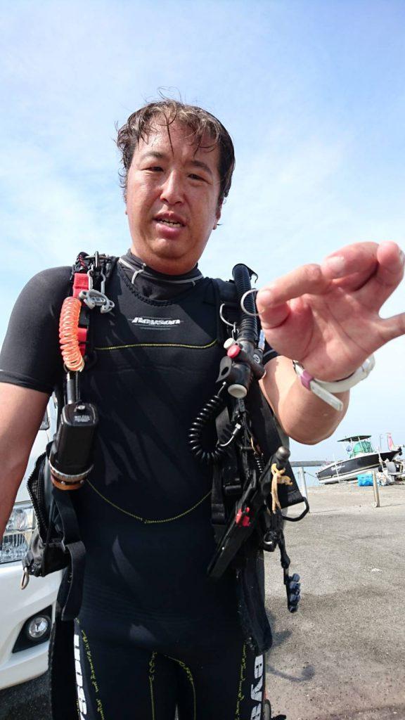 千葉県館山市の船形港で結婚指輪の捜索|体験ダイビングなら沖ノ島ダイビングサービスマリンスノー