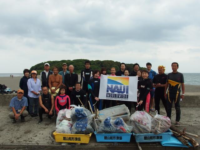 千葉県館山市の沖ノ島海水浴場で第4回沖ノ島海底清掃実施しました|体験ダイビングなら沖ノ島ダイビングサービスマリンスノー