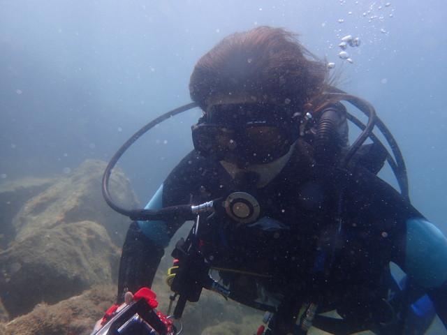千葉県館山市の沖ノ島ビーチでスタッフ候補生とダイビング|体験ダイビングなら沖ノ島ダイビングサービスマリンスノー