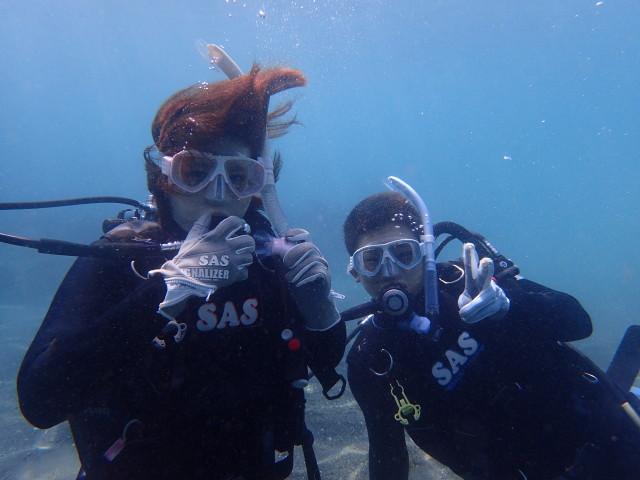 千葉県館山市の沖ノ島ビーチで体験ダイビング|体験ダイビングなら沖ノ島ダイビングサービスマリンスノー
