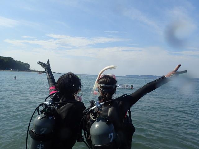 千葉県館山市の沖ノ島ビーチで体験ダイビング 2017/08/26