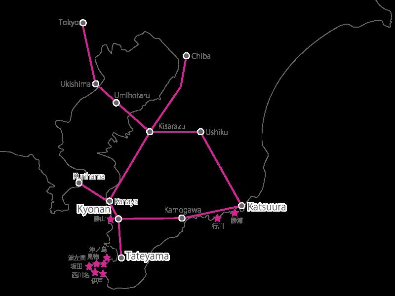 千葉ダイビングサービス協力会 全体マップ