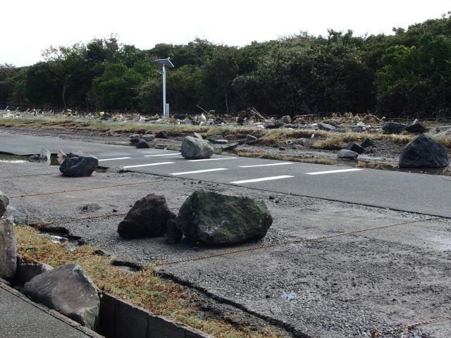 台風21号の被害が甚大で復旧に時間がかかりそうです。 体験ダイビングなら沖ノ島ダイビングサービスマリンスノー