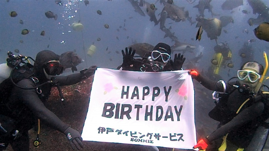 5月1日 Birthday  Dive in 伊戸!