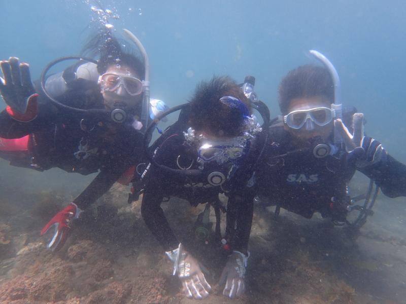 千葉県館山市の沖ノ島ビーチで親子3名の体験ダイビング 2018/05/05|千葉県館山市の沖ノ島ダイビングサービスマリンスノー