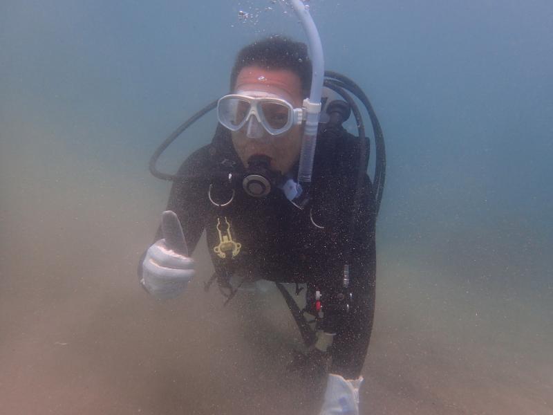 千葉県館山市の沖ノ島ビーチで地元の男性1名の体験ダイビング 2018/05/06|千葉県館山市の沖ノ島ダイビングサービスマリンスノー