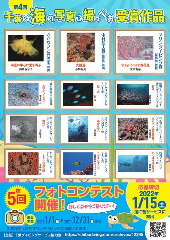 千葉ダイビングサービス協力会主催フォトコンテスト2021開催
